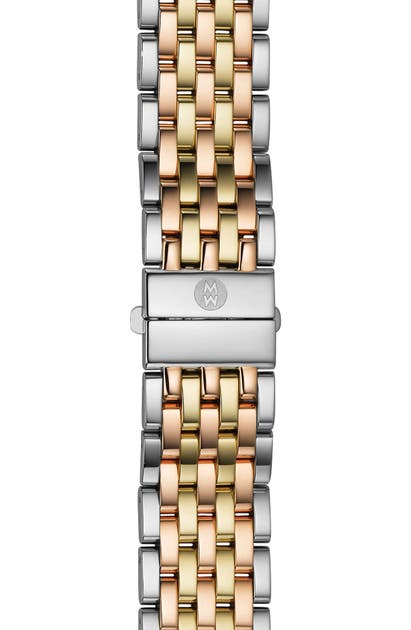 Michele Watches 'DECO TRI TONE' 18MM BRACELET WATCHBAND