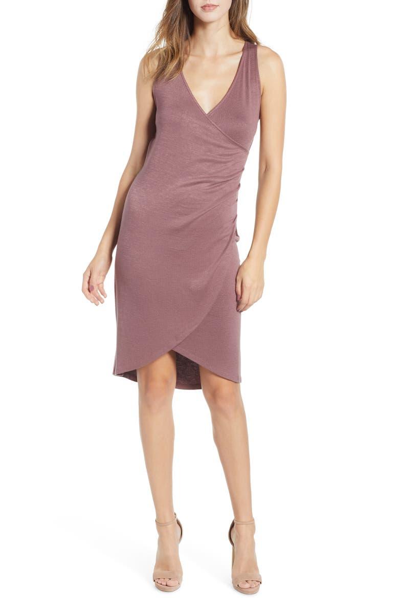 LEITH Mélange Wrap Dress, Main, color, 510