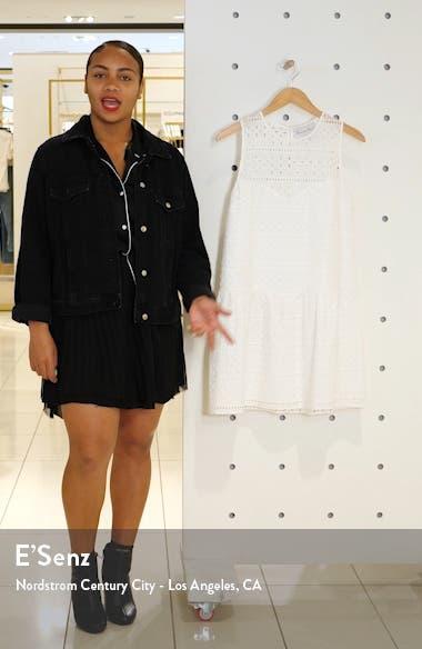 Drop Waist Cotton Eyelet Shift Minidress, sales video thumbnail