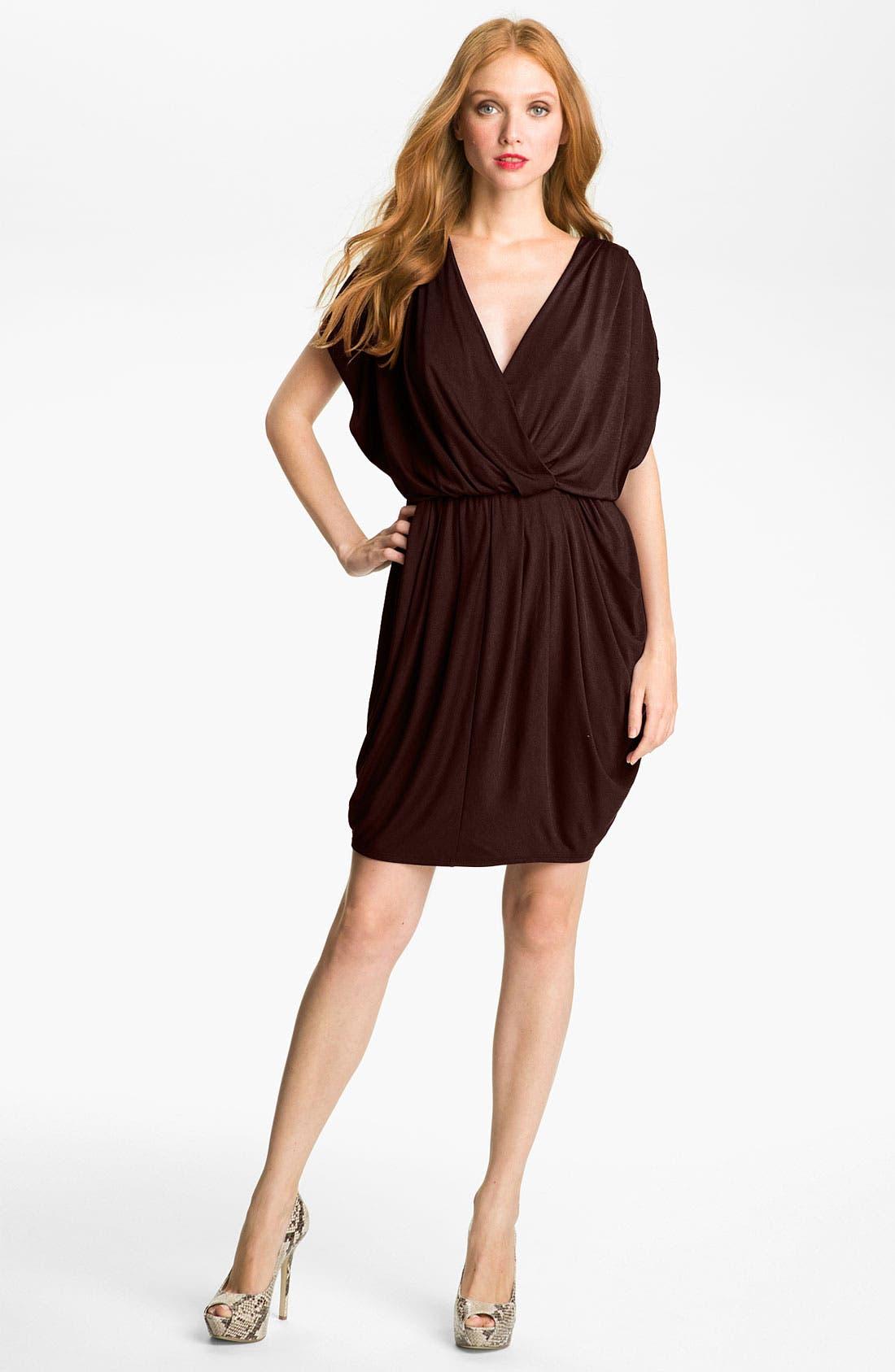 ,                             Faux Wrap Pleated Dress,                             Main thumbnail 4, color,                             200