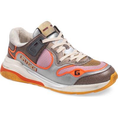 Gucci G Line Low Top Sneaker, Metallic
