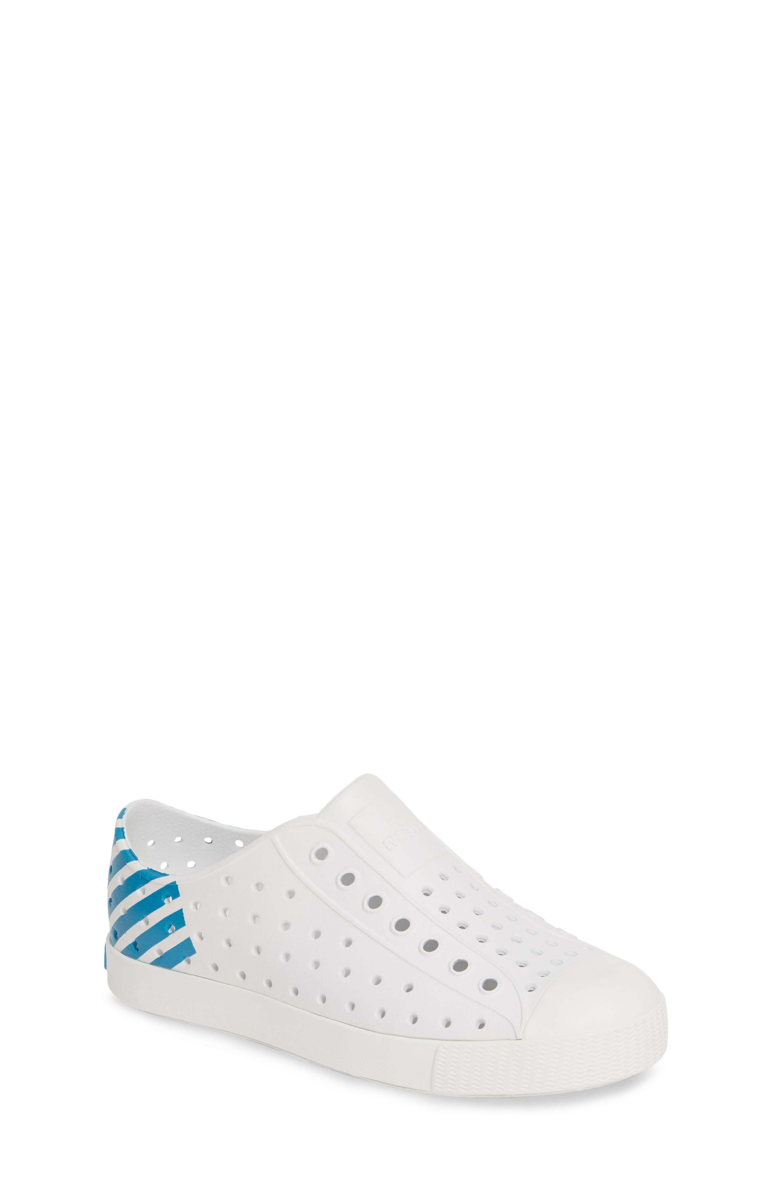 ,                             'Jefferson' Water Friendly Slip-On Sneaker,                             Main thumbnail 1, color,                             WHITE/ WHITE/ ULTRA GLOW BLOCK