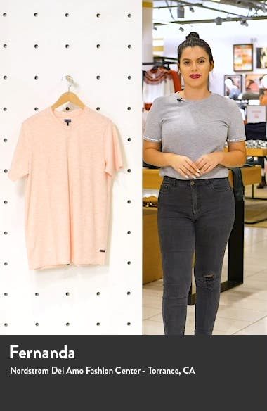 Akasaka Slim Fit Slub Stripe Jersey T-Shirt, sales video thumbnail