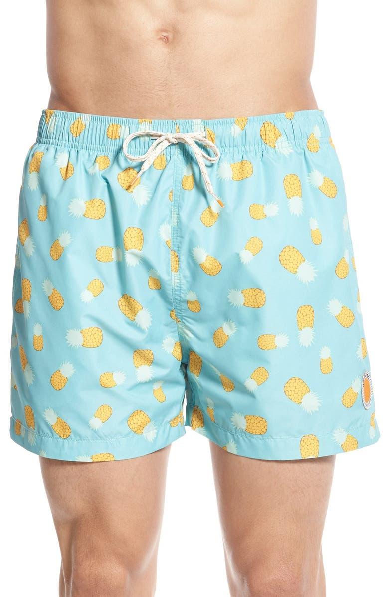 edc1ae75a7 'Pineapple Express' Print Swim Trunks, Main, color, ...