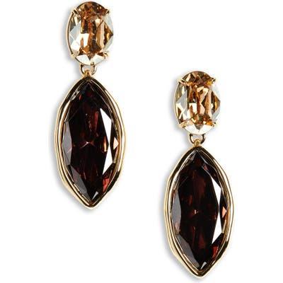 Alexis Bittar Navette Crystal Drop Earrings