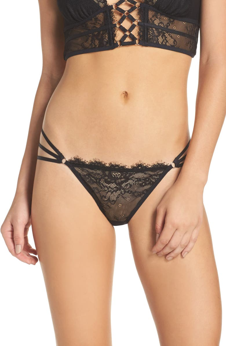 THISTLE & SPIRE Thistle and Spire Constellation Lace Bikini, Main, color, 001