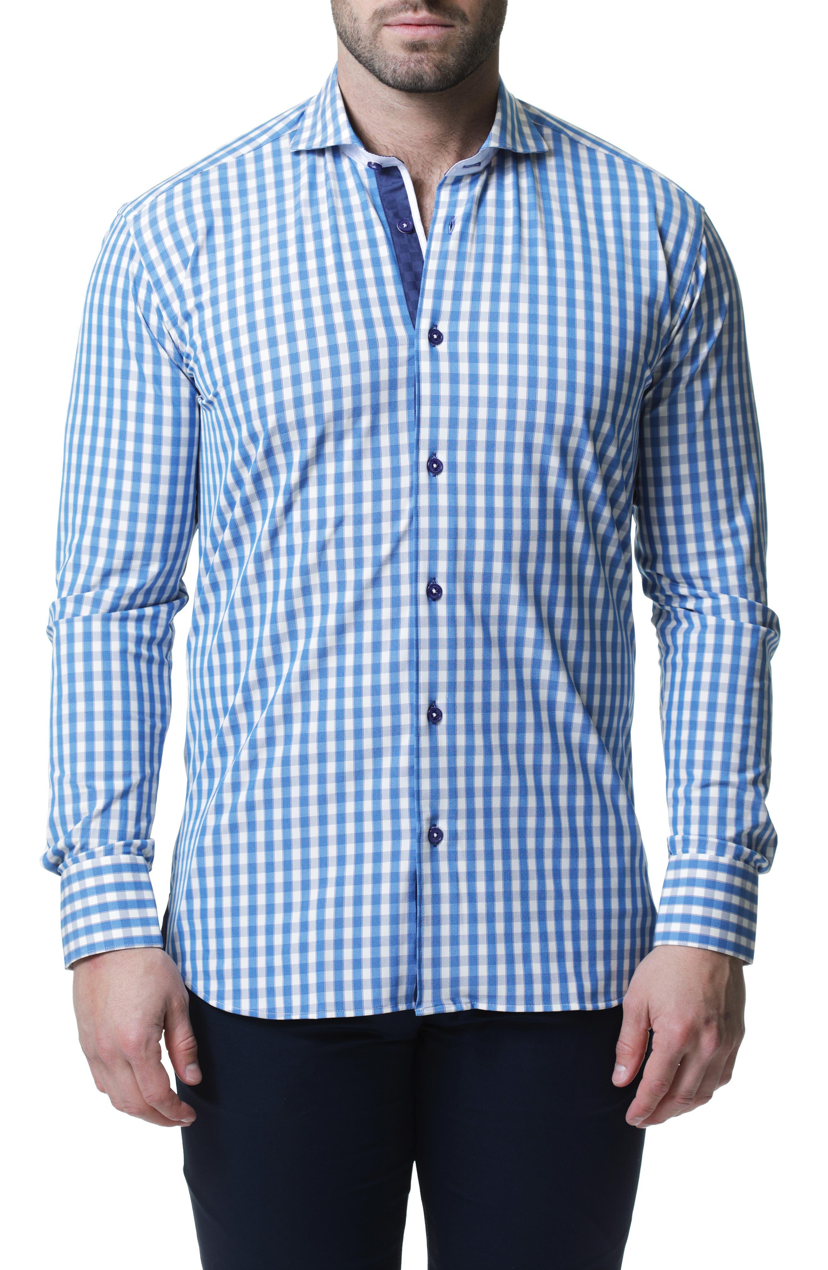 Wall Street Check Button-Up Performance Shirt