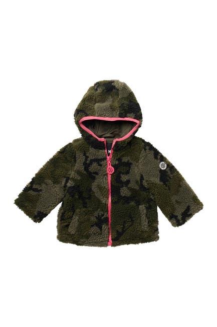 Image of DKNY Camo Print Plush Fleece Jacket