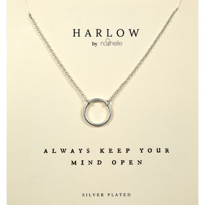 Harlow By Nashelle Open Circle Boxed Necklace