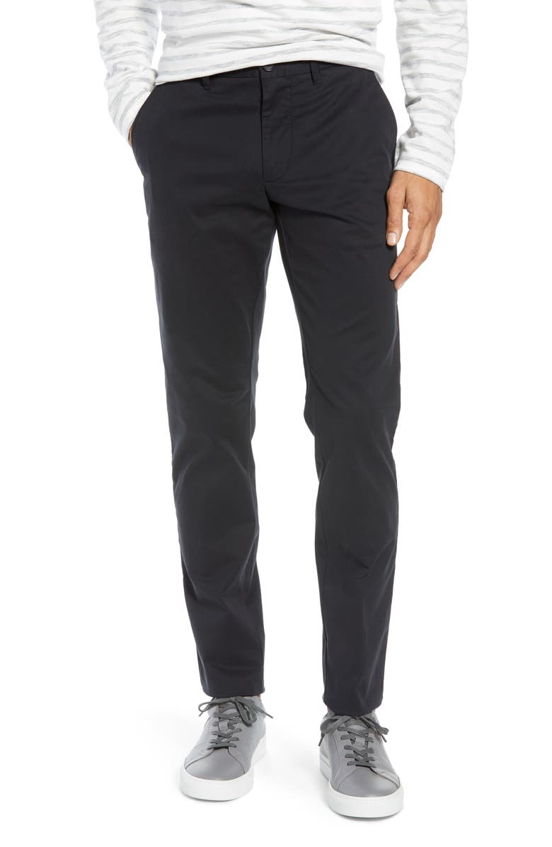 1901 Ballard Slim Fit Stretch Chino Pants, Main, color, BLACK