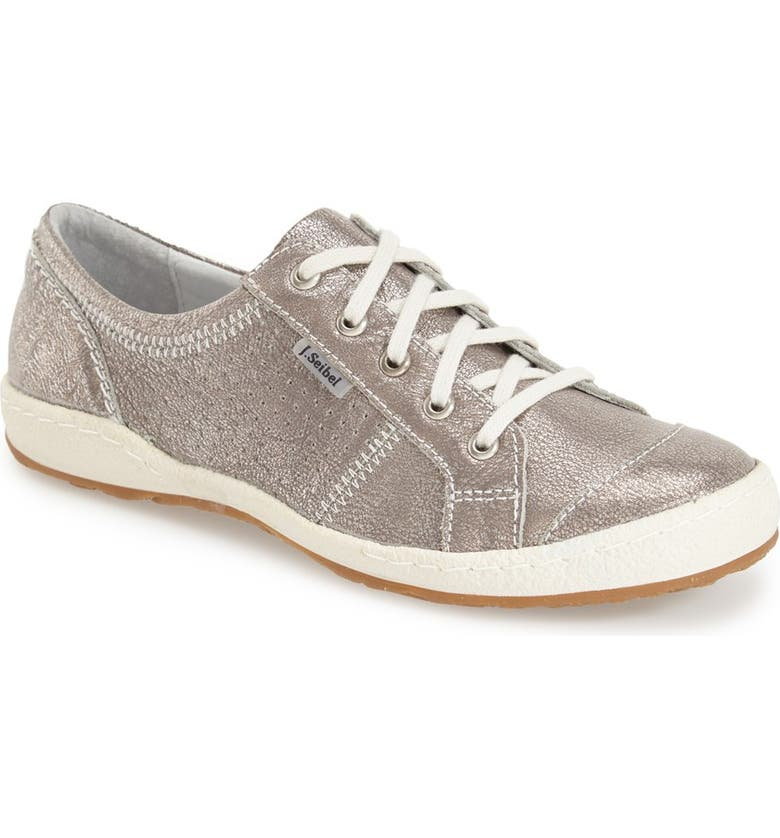 JOSEF SEIBEL 'Caspian' Sneaker, Main, color, PLATINUM METALLIC LEATHER