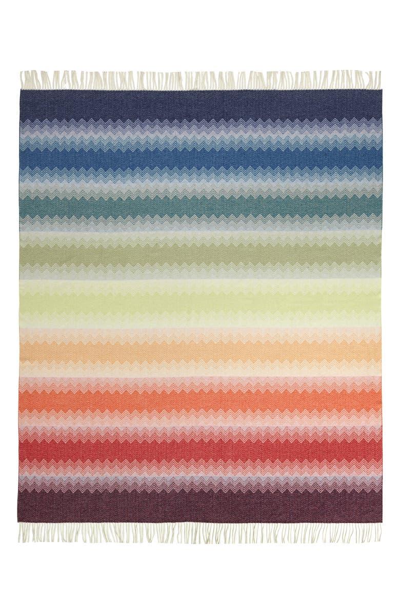 MISSONIHOME Walt Throw Blanket, Main, color, MULTI
