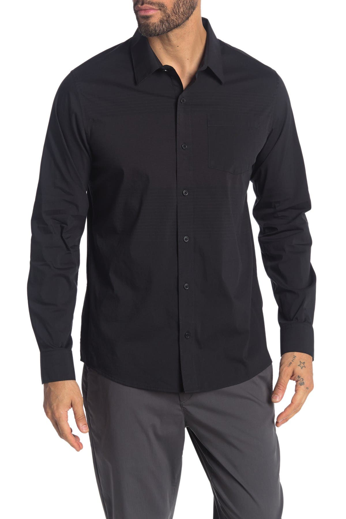 Image of TRAVIS MATHEW Rissey Long Sleeve Button Down Shirt
