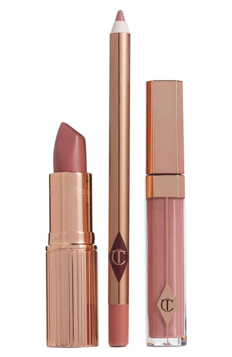CHARLOTTE TILBURY The Pillow Talk Full Size Lip Kit, Main, color, 650