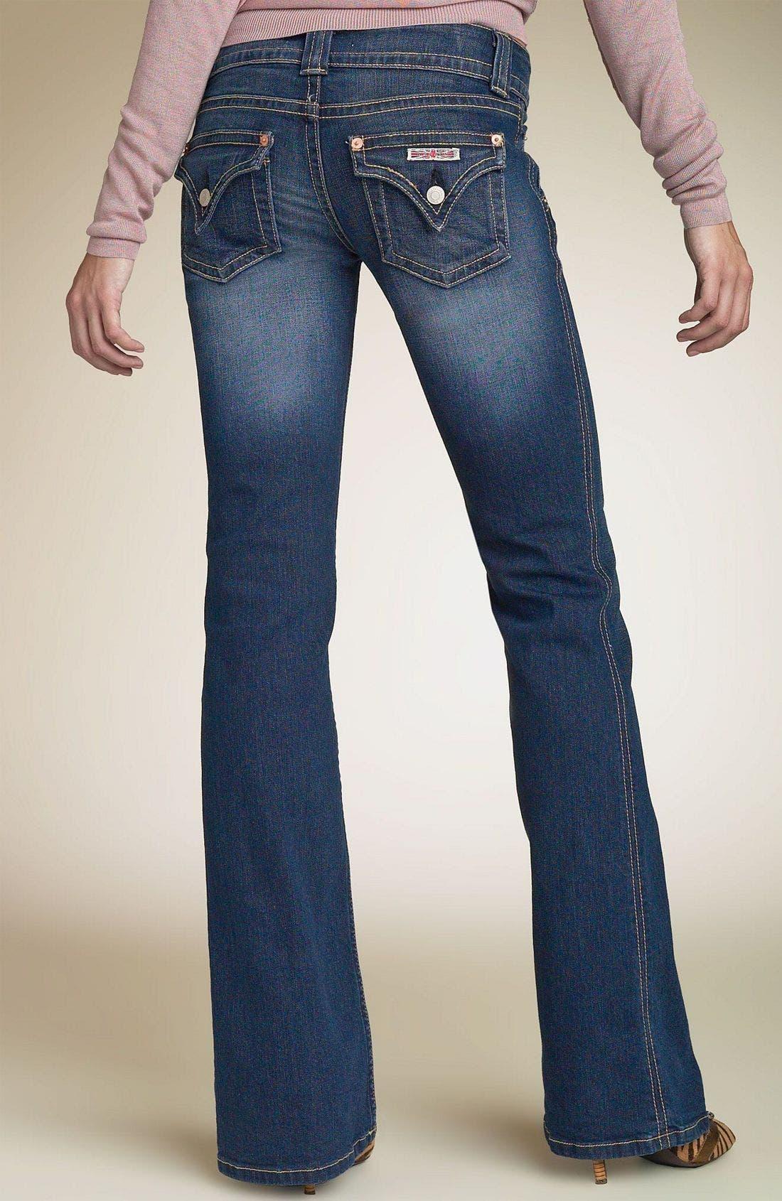 ,                             Signature Flap Pocket Bootcut Jeans,                             Alternate thumbnail 98, color,                             DRK