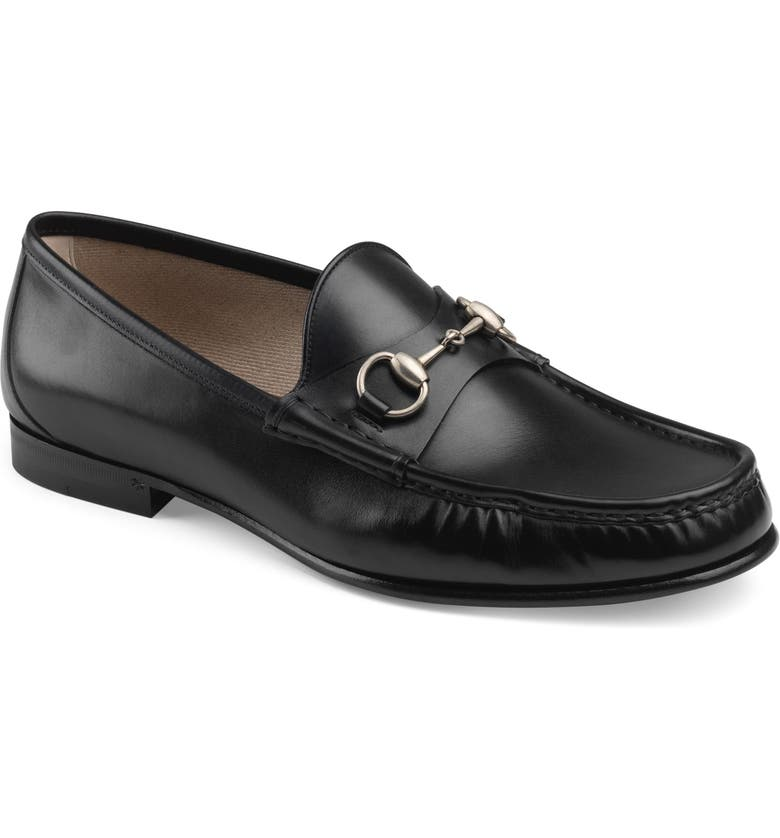 GUCCI Roos Bit Loafer, Main, color, BLACK