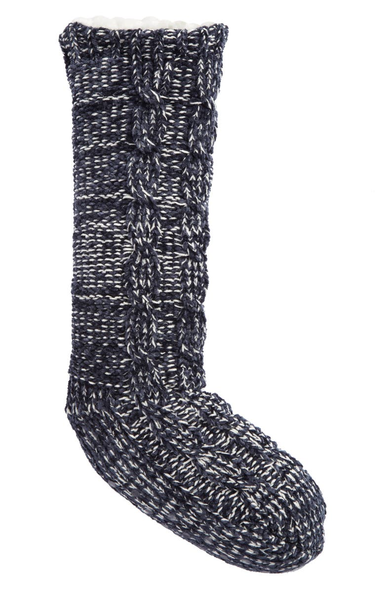 MAKE + MODEL Cable Knit Slipper Socks, Main, color, 410