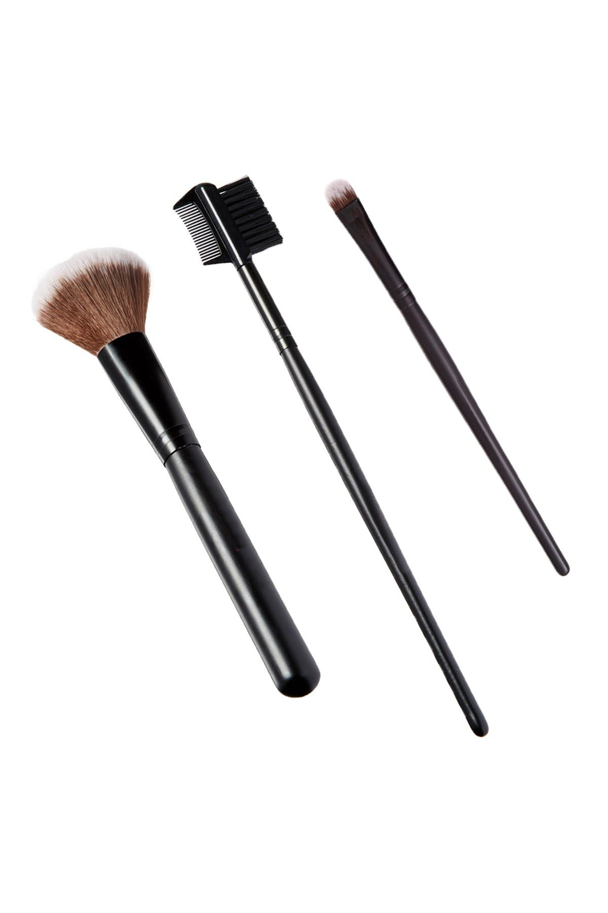 Glamour Status The Essentials 3-Piece Makeup Brush Set
