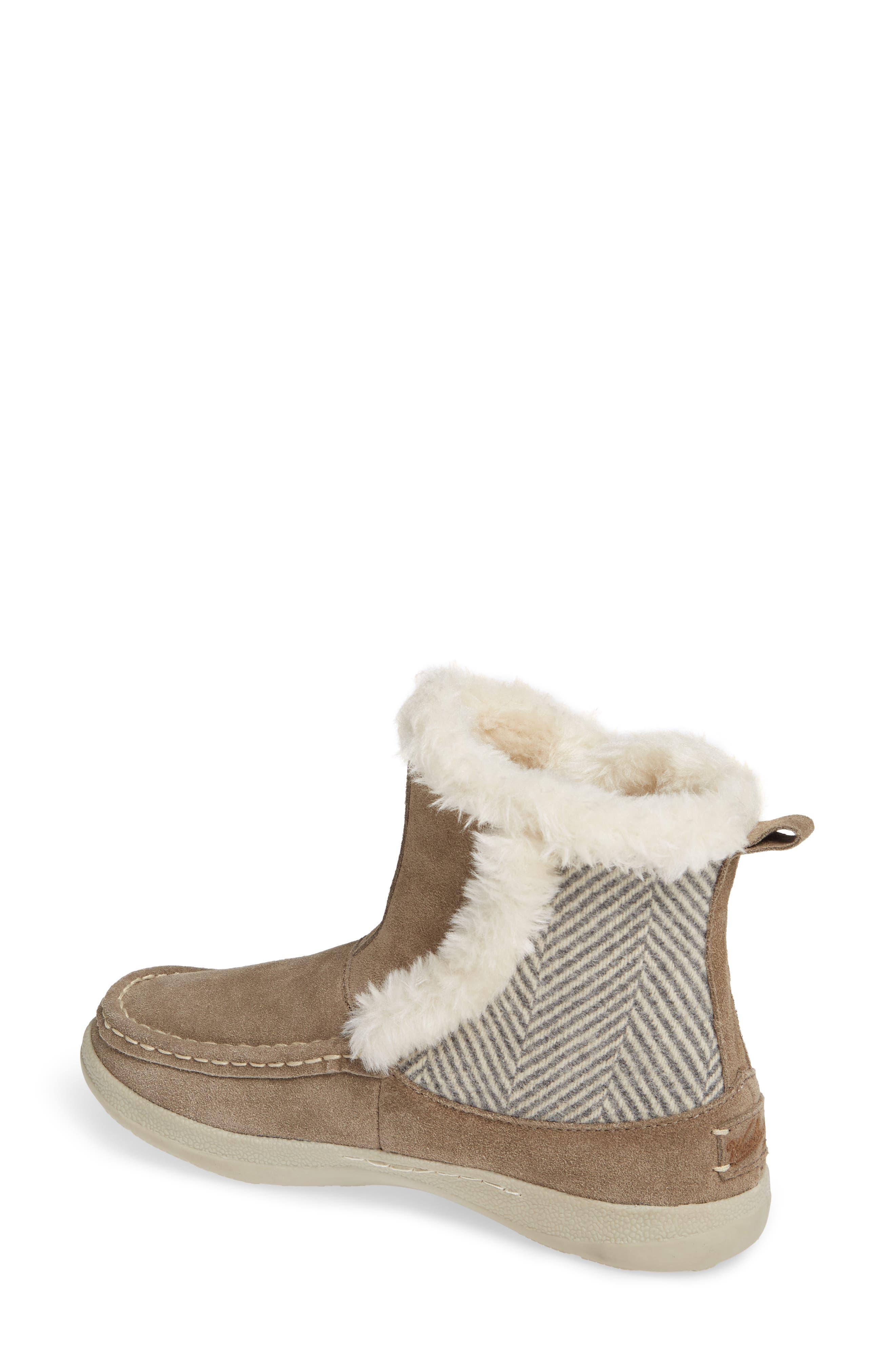 ,                             Pine Creek II Faux Fur Trim Boot,                             Alternate thumbnail 2, color,                             STEEL/ HERRINGBONE SUEDE
