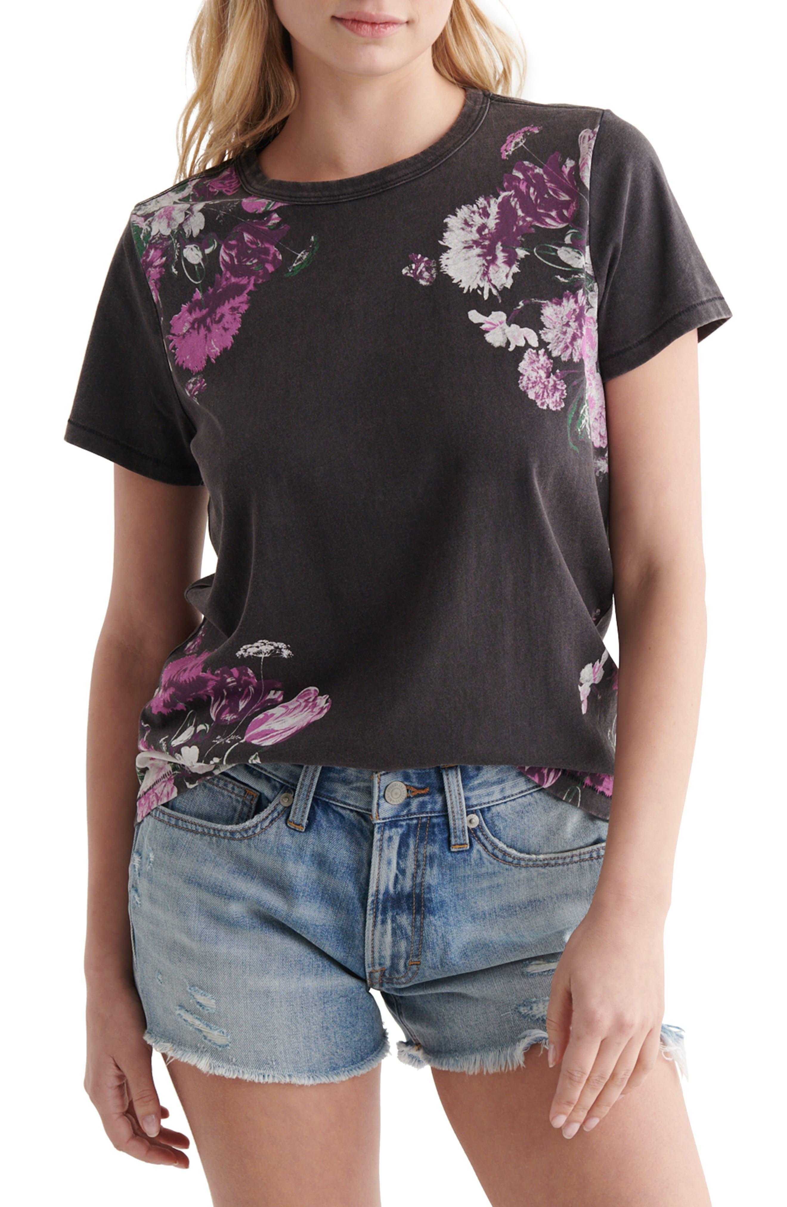 Floral Print Crewneck T-Shirt