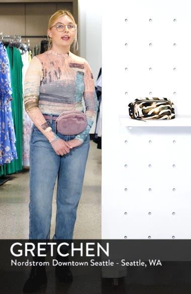 Captain Zebra Genuine Calf Hair Belt Bag, sales video thumbnail