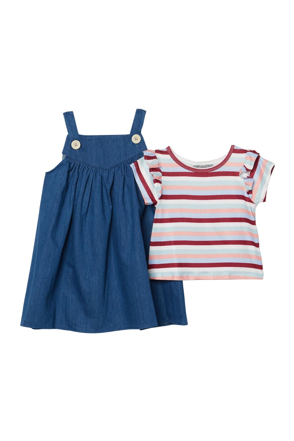 Image of Pastourelle by Pippa and Julie Denim Jumper & Striped Tee