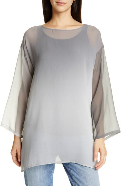 Image of Eileen Fisher Sheer Silk Tunic