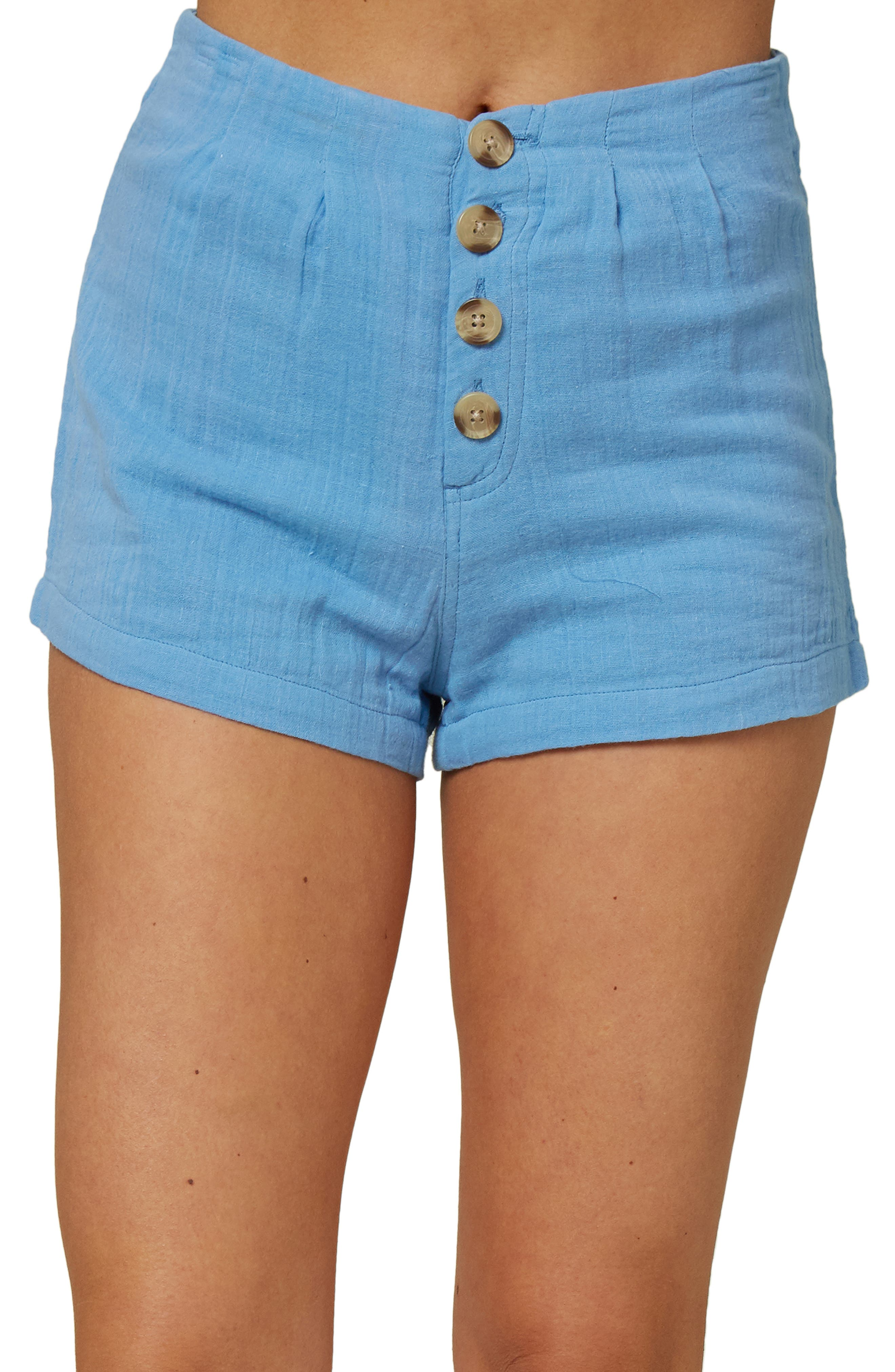 Women's O'Neill Henley Woven Shorts,  27 - Blue