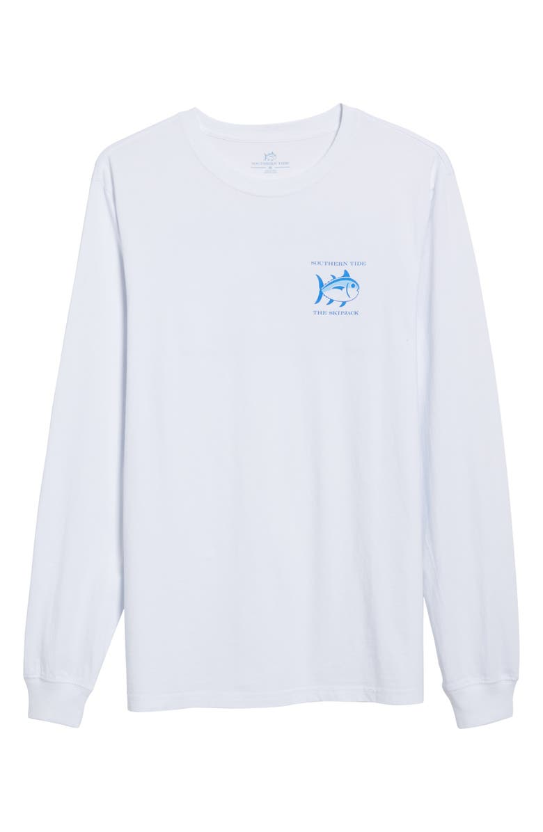 SOUTHERN TIDE 'Skipjack' Long Sleeve Graphic T-Shirt, Main, color, CLASSIC WHITE