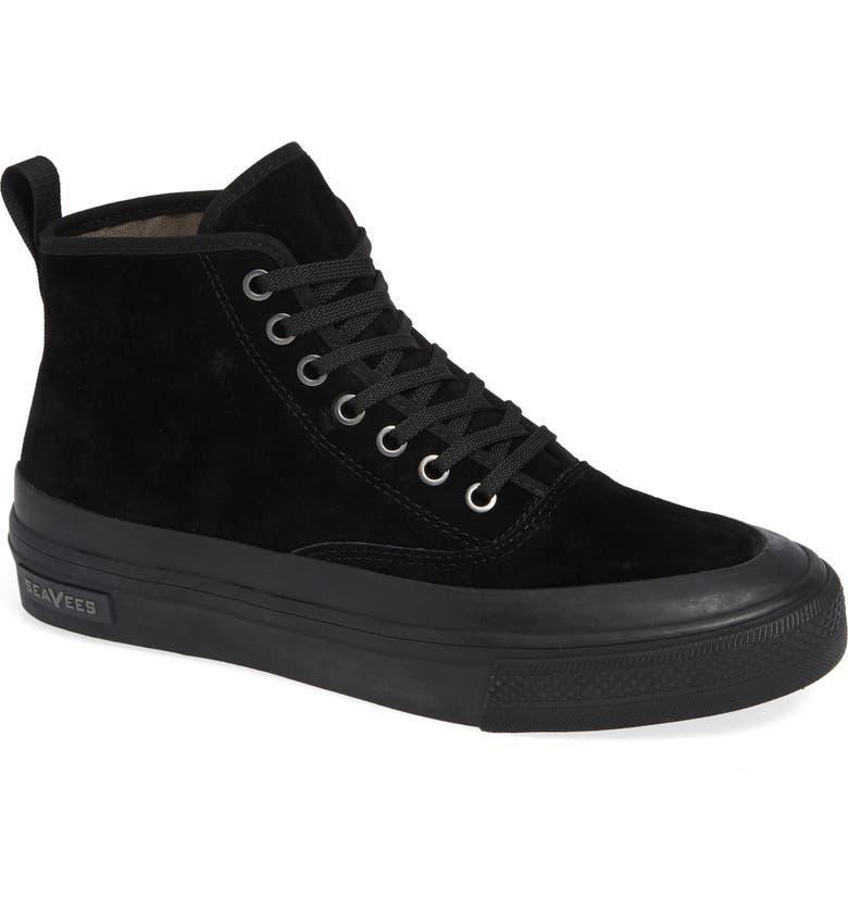 SEAVEES Mariners Waterproof Sneaker Boot, Main, color, BLACK SUEDE