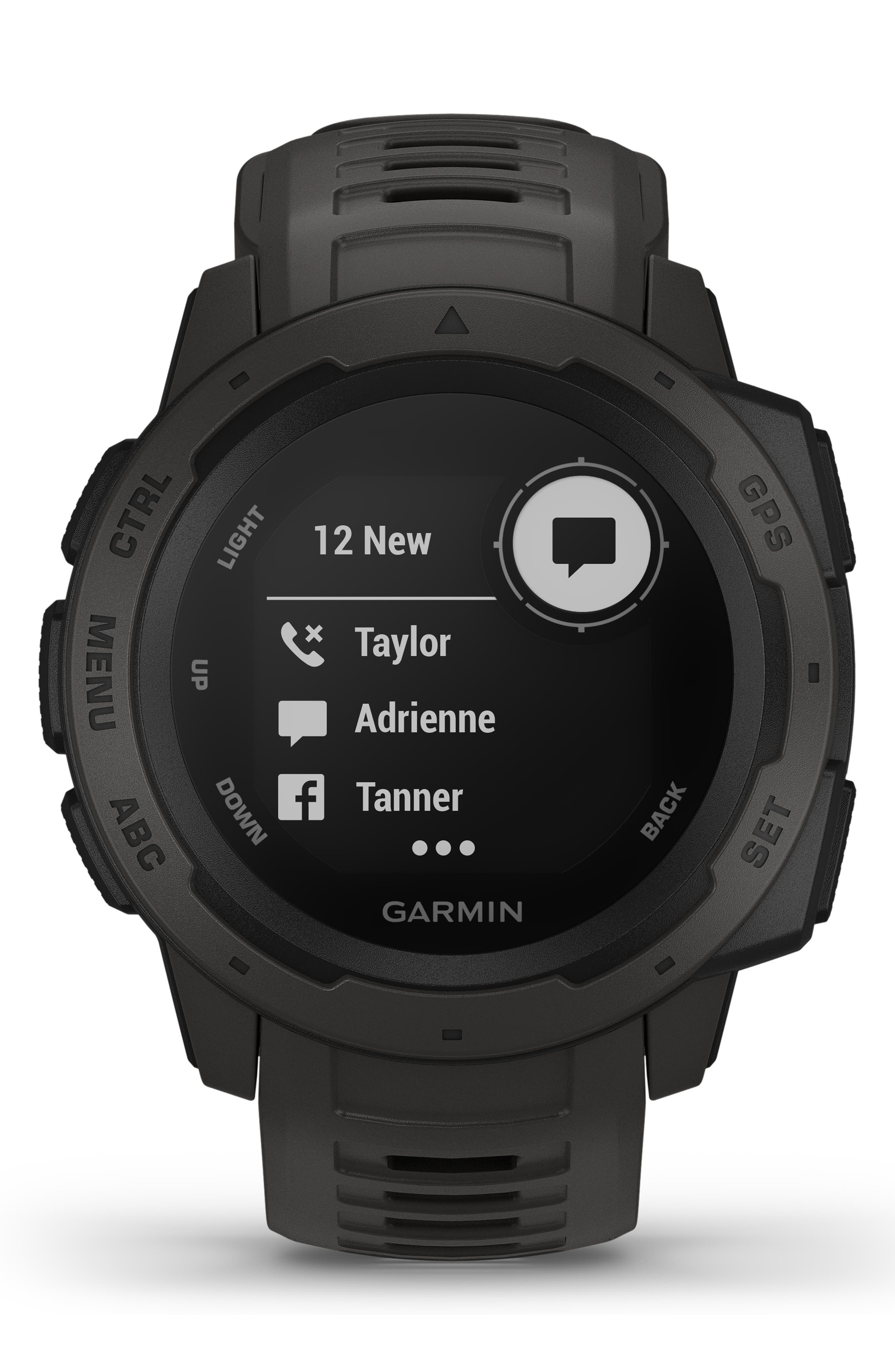 ,                             Instinct<sup>™</sup> Outdoor GPS Watch, 45mm,                             Alternate thumbnail 10, color,                             GRAPHITE