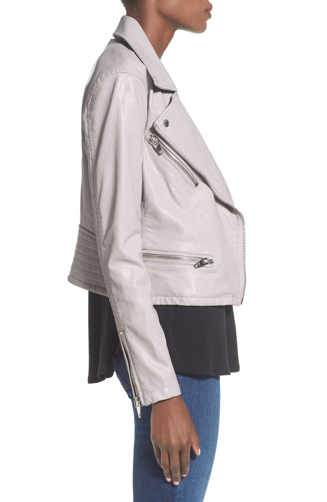 ,                             Faux Leather Moto Jacket,                             Alternate thumbnail 10, color,                             020