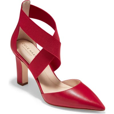 Cole Haan Grand Ambition Maikki Pointed Toe Pump B - Red