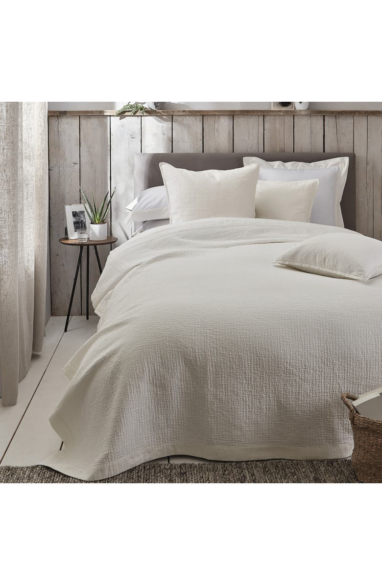 THE WHITE COMPANY Lisbon Linen Quilt, Main, color, IVORY