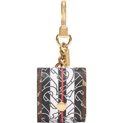 Burberry Tricolor Monogram Airpod Case Bag Charm - Brown