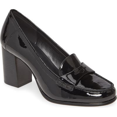 Michael Michael Kors Buchanan Block Heel Loafer, Black
