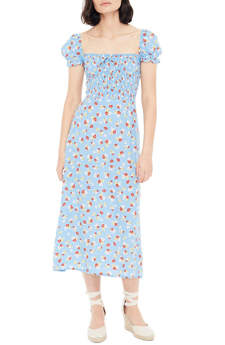 FAITHFULL THE BRAND Castilo Jasmin Midi Dress, Main, color, 401