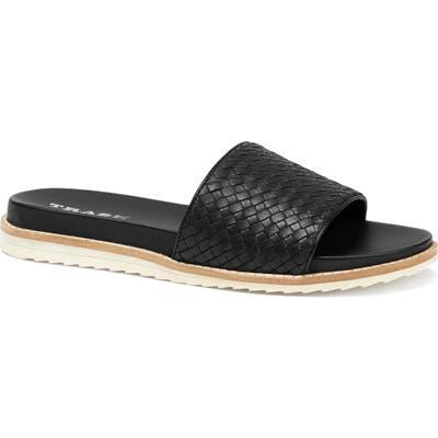 Trask Leather Slide Sandal- Black
