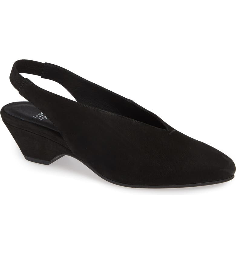 EILEEN FISHER Gatwick Slingback Pump, Main, color, BLACK NUBUCK