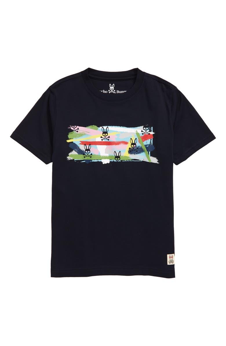 PSYCHO BUNNY Graphic T-Shirt, Main, color, NAVY