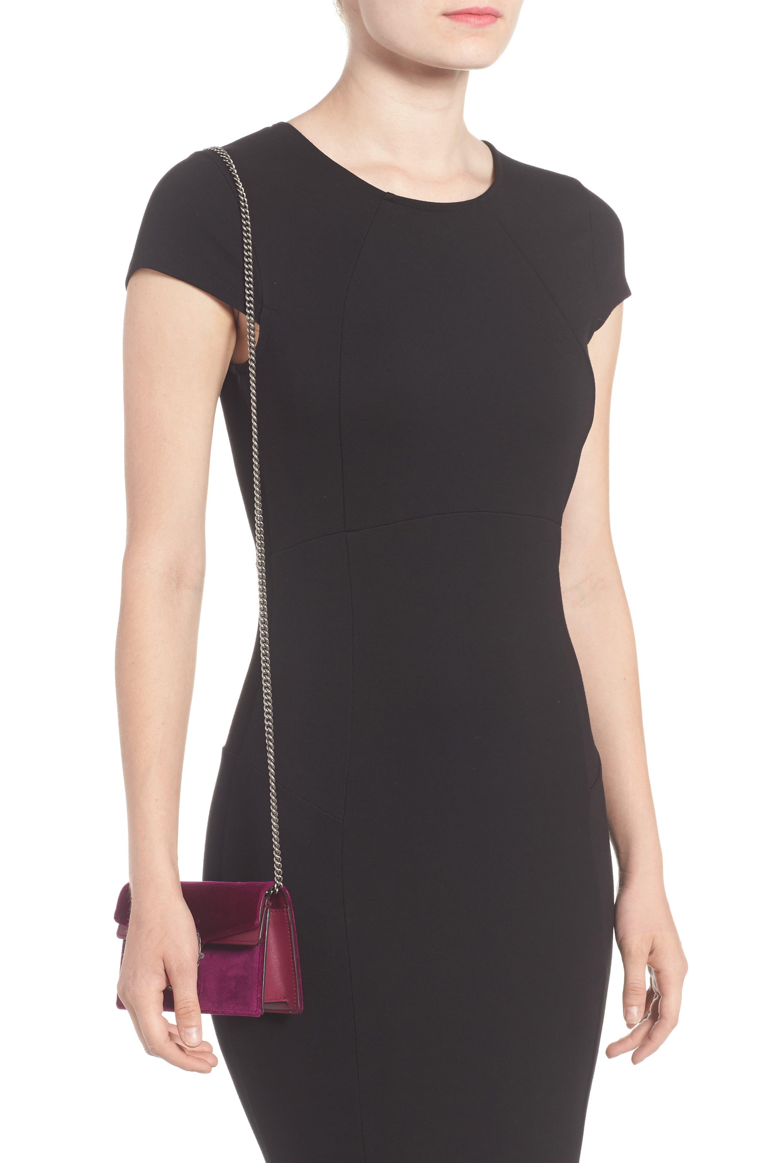 ,                             Super Mini Dionysus Velvet Shoulder Bag,                             Alternate thumbnail 14, color,                             560