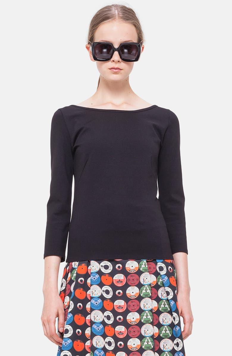 AKRIS PUNTO Jersey Top, Main, color, BLACK