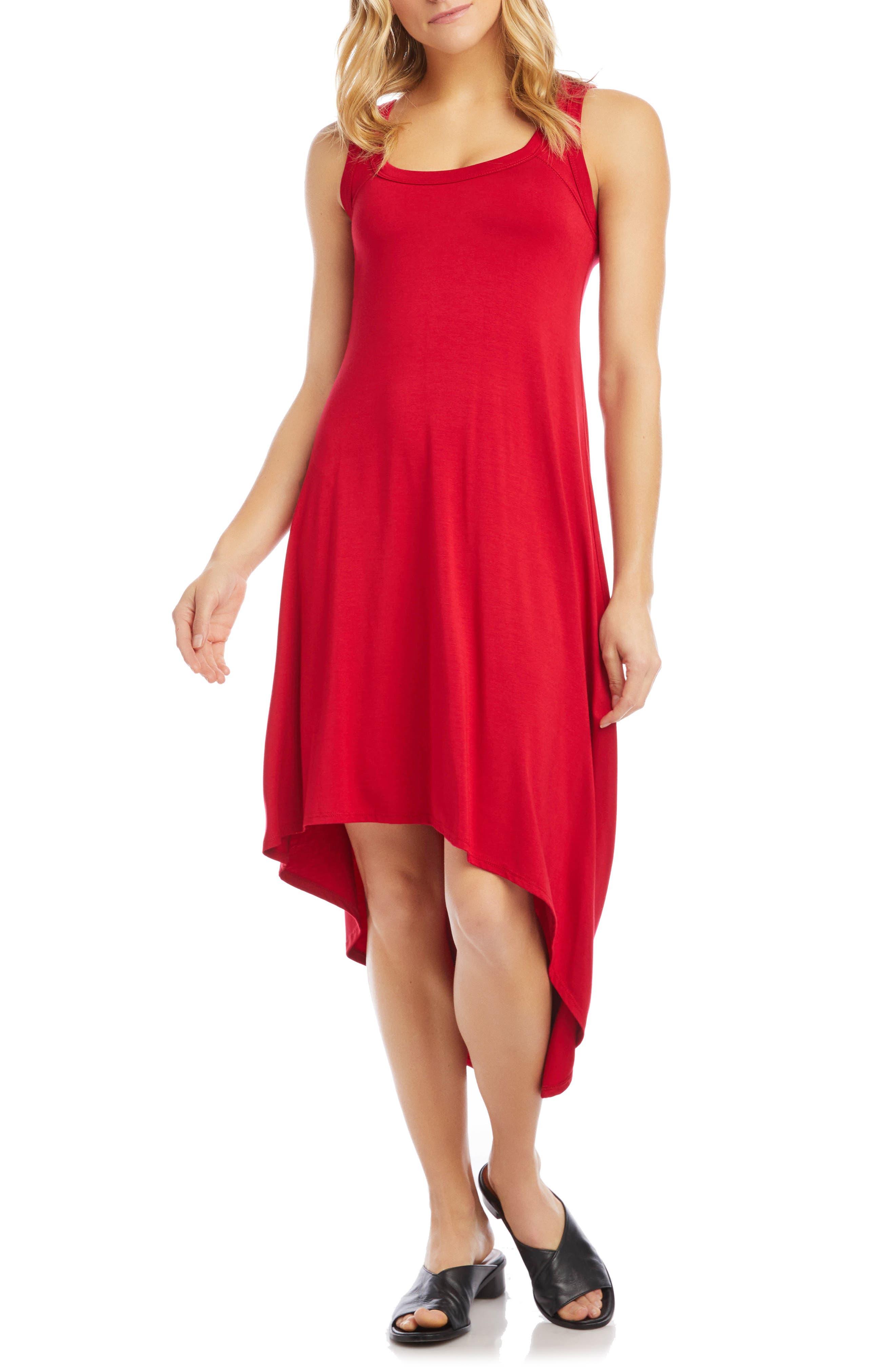 Sleeveless Asymmetrical Hem Dress
