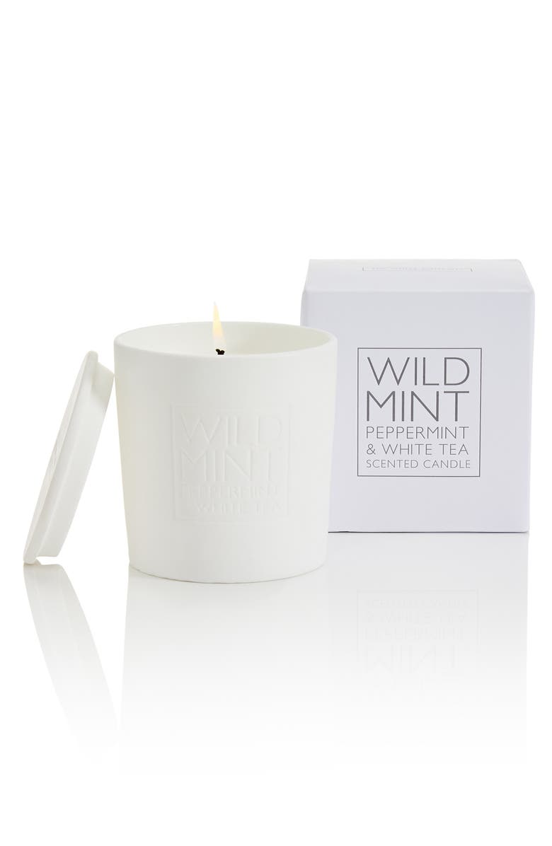 THE WHITE COMPANY Ceramic Candle, Main, color, WILD MINT