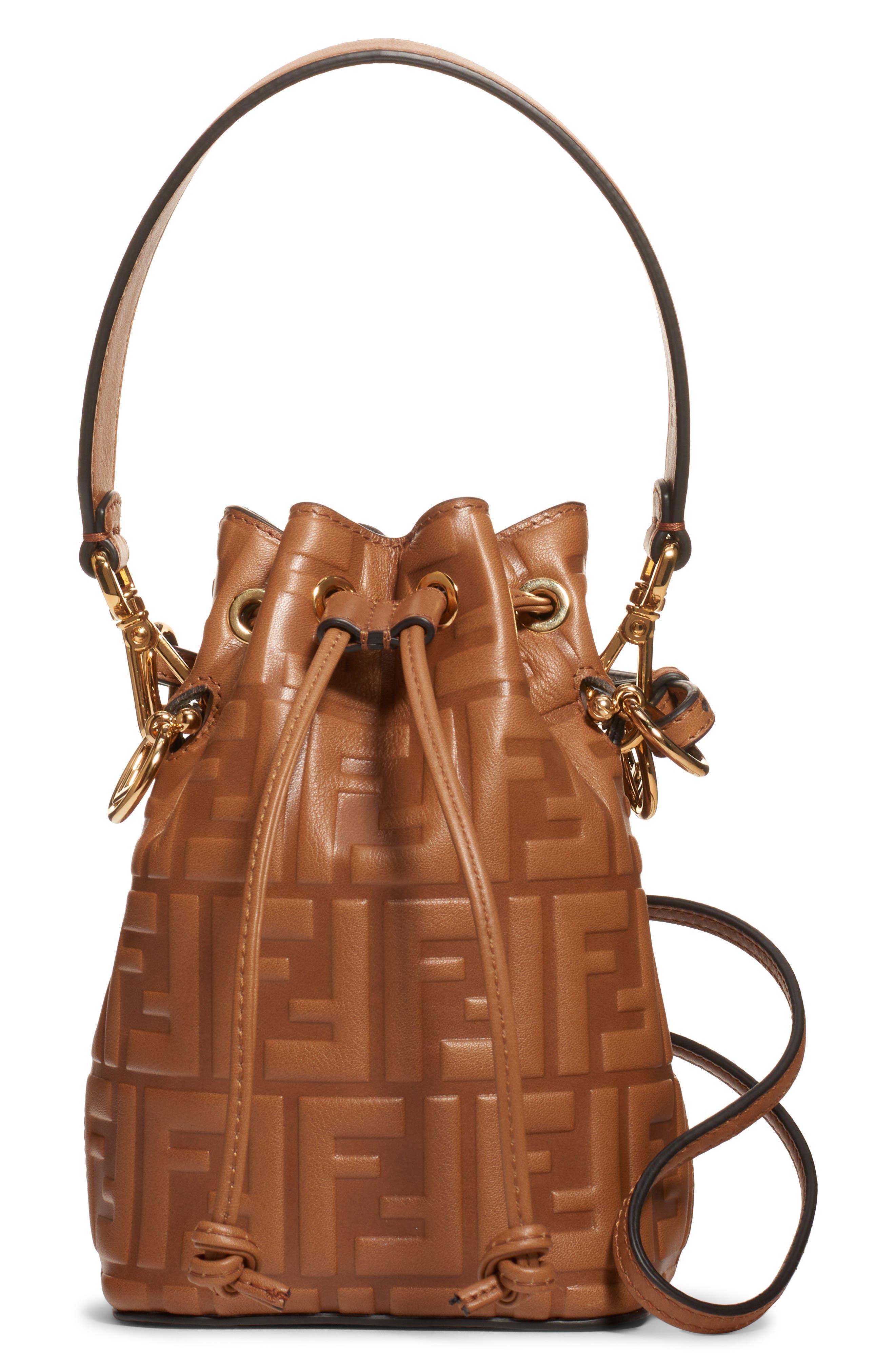 Fendi Mini Mon Tresor Logo Leather Bucket Bag   Nordstrom