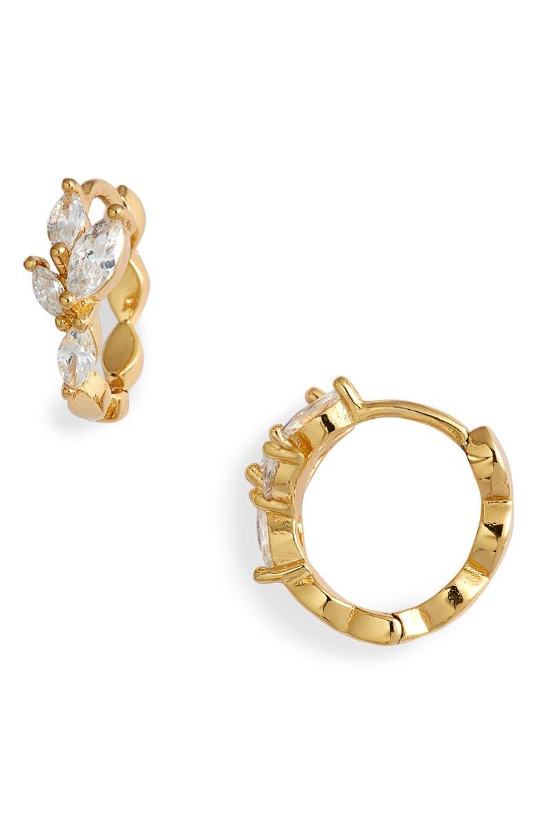 GORJANA Lena Huggie Hoop Earrings, Main, color, GOLD