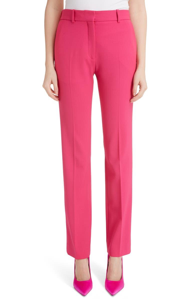 VICTORIA BECKHAM Slim Leg Trousers, Main, color, 650