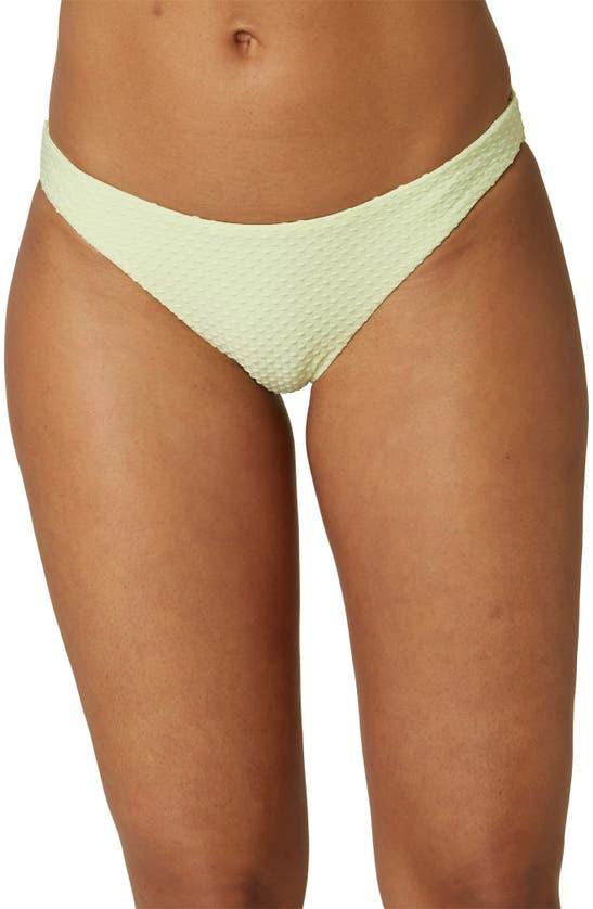 O'neill Rockley Saltwater Textured Bikini Bottoms In Mint