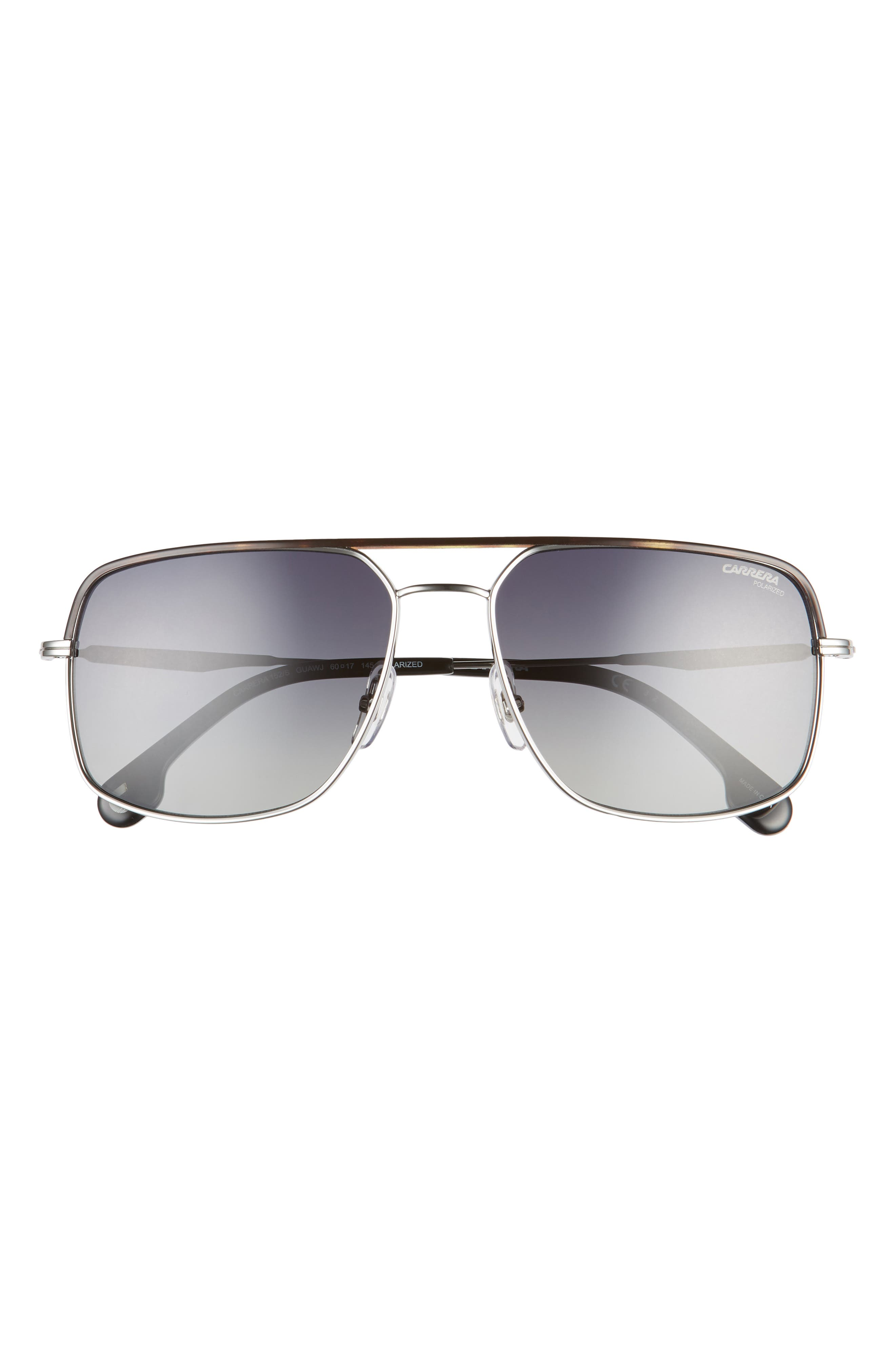 60mm Polarized Square Aviator Sunglasses