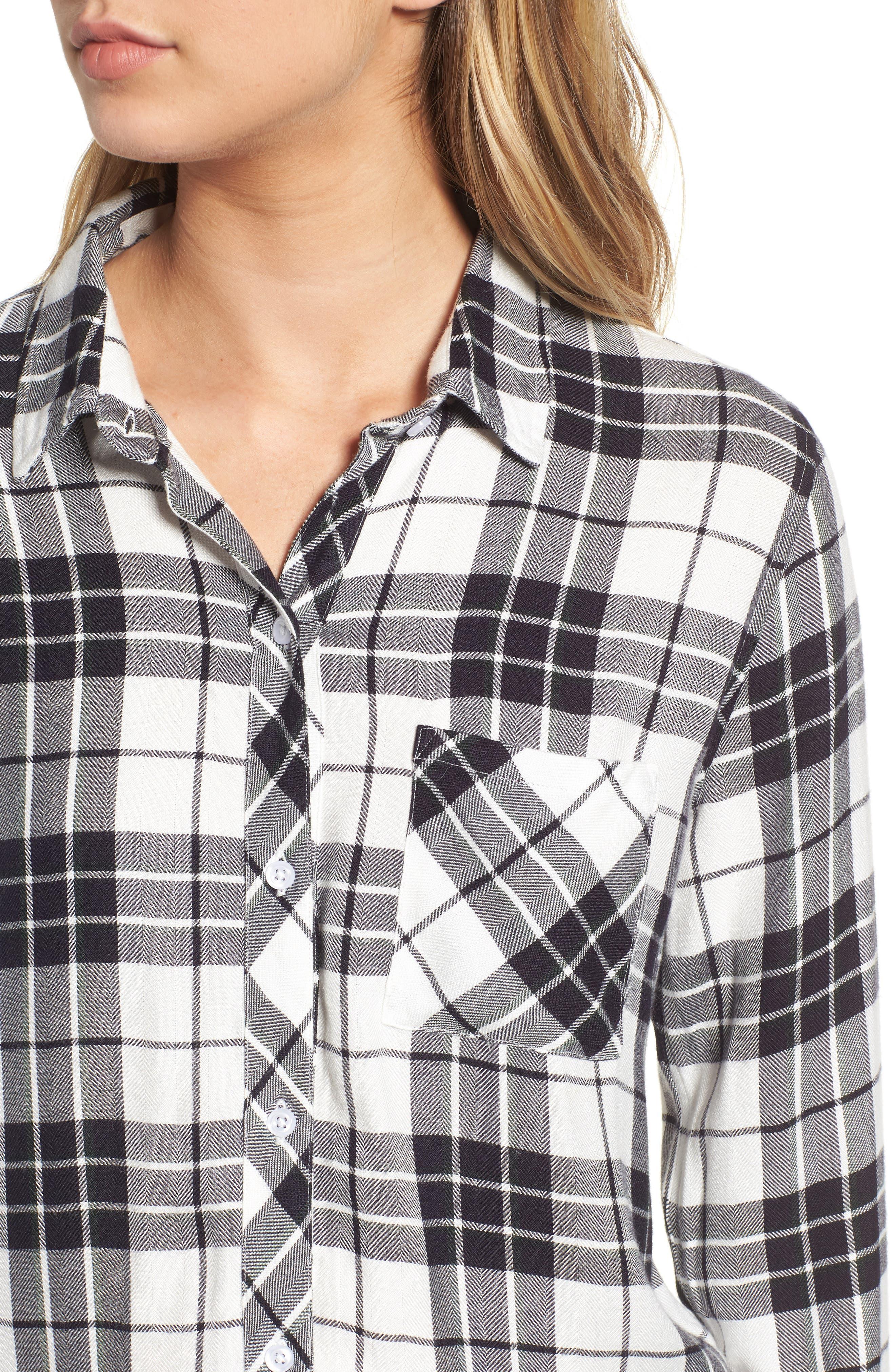 ,                             Hunter Plaid Shirt,                             Alternate thumbnail 495, color,                             005